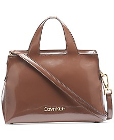 Calvin Klein Neat Leather Satchel