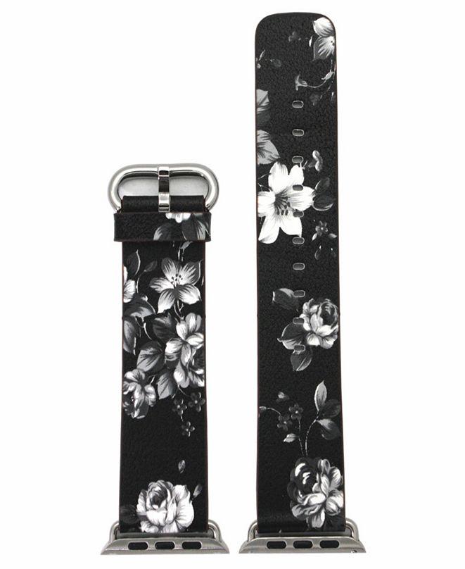 Nimitec Women's Floral Print Leather Apple Watch Strap 38mm