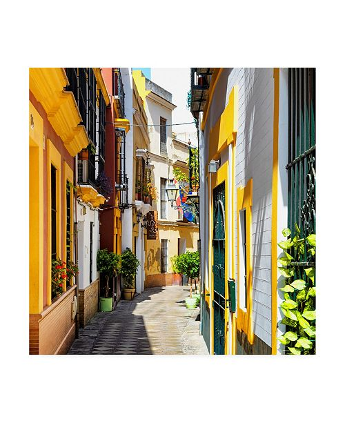 "Trademark Global Philippe Hugonnard Made in Spain 3 Yellow Street in Seville Canvas Art - 36.5"" x 48"""