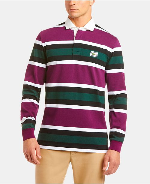 Lacoste Men's Bold Stripe Rugby Polo Shirt