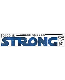 Star Wars Classic The Force Is Strong Pands Wall Decals