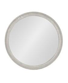 """Kate and Laurel Mansell Circular Shaped Hanging Wood Wall Mirror - 28"""" x 38"""""""