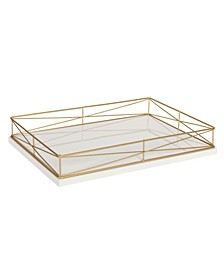 """Mendel Rectangle Tray with Decorative Metal Rim - 12"""" x 16.5"""""""