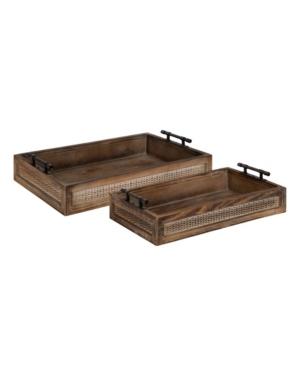 Kate and Laurel Bayport Wood Nesting Tray Set, 2 Piece
