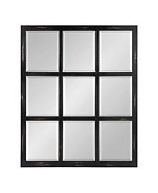 "Hogan 9 Windowpane Wood Wall Mirror - 26"" x 32"""