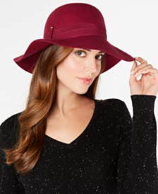 Nine West Wool Felt Downbrim Floppy Hat