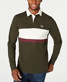 Men's Weston Panel Rugby Long Sleeve Polo Shirt