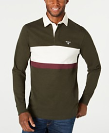 Barbour Men's Weston Panel Rugby Long Sleeve Polo Shirt