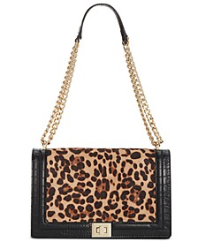 INC Ajae Leopard Flap Crossbody, Created for Macy's