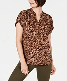 Animal-Print Short-Sleeve Shirt, Created for Macy's