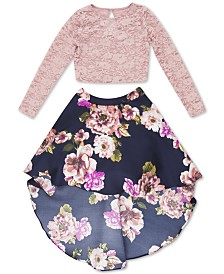 Speechless Big Girls Plus Size 2-Pc. Lace Top & High-Low Skirt Set, Created for Macy's
