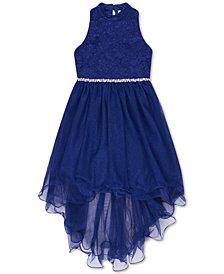 Speechless Big Girls Glitter Lace High-Low Hem Dress
