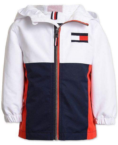 Tommy Hilfiger Baby Boys Colorblocked Hooded Jacket