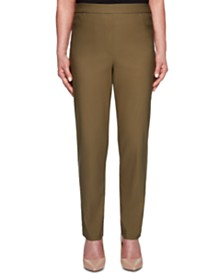 Alfred Dunner Petite Canyon Cedar Allure Stretchy Pull-On Pants