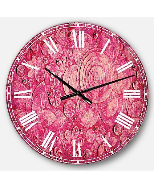 Designart Digital Art Oversized Round Metal Wall Clock