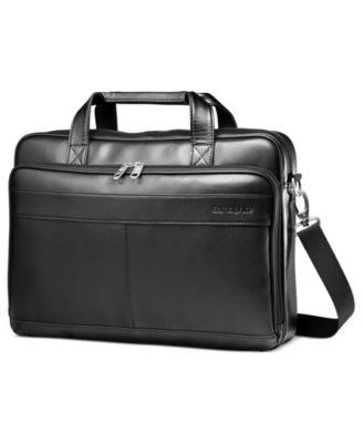 Leather Slim Portfolio Laptop Briefcase