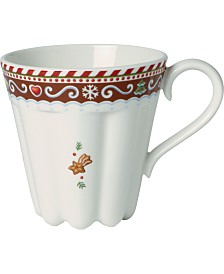 Villeroy & Boch Winter Bakery Delight Large Cup, Gingerbread Design