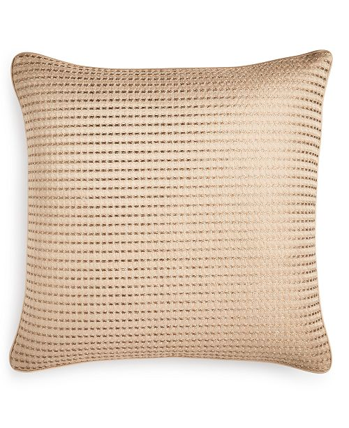 "Hotel Collection Deco Embroidery 16"" x 16"" Decorative Pillow, Created for Macy's"