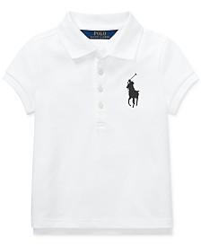 Polo Ralph Lauren Little Girls Big Pony Stretch Mesh Polo Shirt