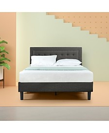 Zinus Dachelle Platform Bed / Strong Wood Slat Support, Queen
