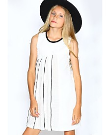 Lanoosh Big Girls A-Line Solid White Dress