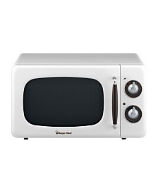 Magic Chef 0.7 Cubic Feet 700W Retro Countertop Microwave Oven