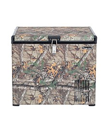 1.4 Cubic Feet Portable Freezer with Authentic Real Tree Extra Camouflage Pattern