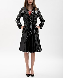 VHNY Black Vinyl Trench Coat