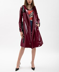 VHNY Plum Vinyl Trench Coat