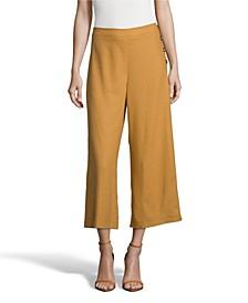 Linen Cropped Pants, Petite