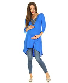 Maternity Calla Embellished Tunic Top
