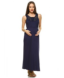 White Mark Maternity Kadyn Maxi Dress