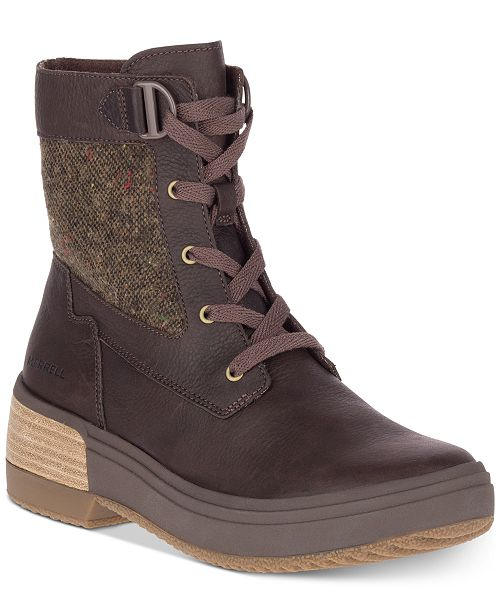 Merrell Women's Haven Mid Lace-Up Waterproof Boots