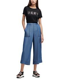 DKNY Super Wide Leg Pull-On Pants