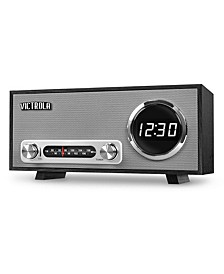 Bluetooth Digital Clock Stereo with FM Radio and USB Charging