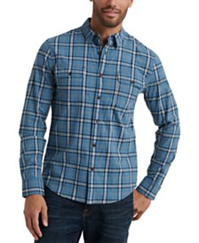 Lucky Brand Men's Saturday Stretch Regular-Fit Plaid Workwear Shirt