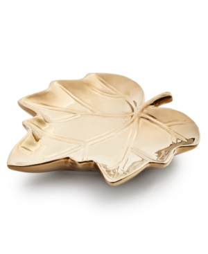 Harvest Gold Maple Leaf Plate