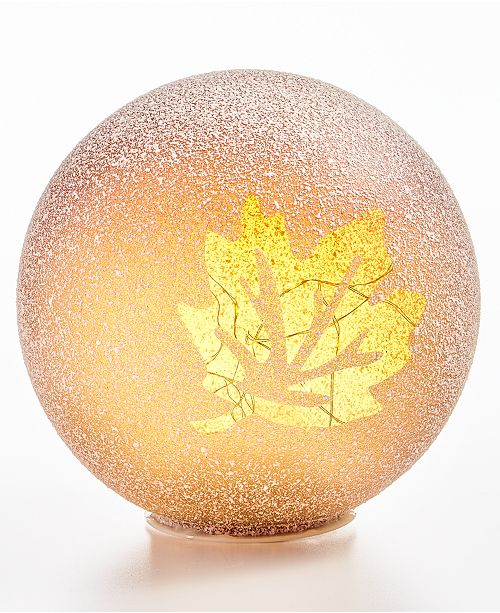 Home Essentials CLOSEOUT! Harvest Large Leaf LED Globe