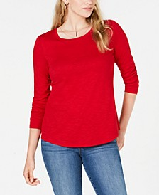 Petite Scoop-Neck Top, Created for Macy's