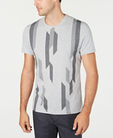 Alfani Men's Bar-Graphic Intarsia T-Shirt, Created for Macy's