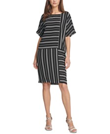 DKNY Striped Shift Dress