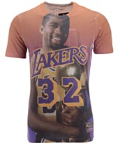 1548b08a Mitchell & Ness Men's Magic Johnson Los Angeles Lakers City Pride Name And  Number T-
