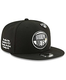 New Era Big Boys Brooklyn Nets On-Court Collection 9FIFTY Snapback Cap