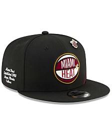 New Era Big Boys Miami Heat On-Court Collection 9FIFTY Snapback Cap