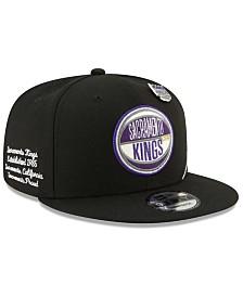 New Era Big Boys Sacramento Kings On-Court Collection 9FIFTY Snapback Cap