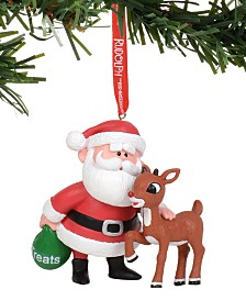 Department 56 Disney Rudolph and Santa Ornament