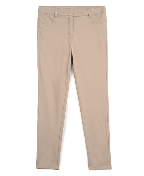 Nautica Big Girls School Uniform Sateen Pants