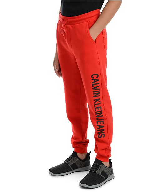 Calvin Klein Big Boys Institution Logo Fleece Joggers