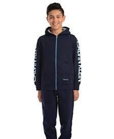 Calvin Klein Jeans Big Boys Oversized Logo Fleece Hoodie