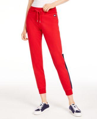 Varsity Side-Panel Jogger Sweatpants